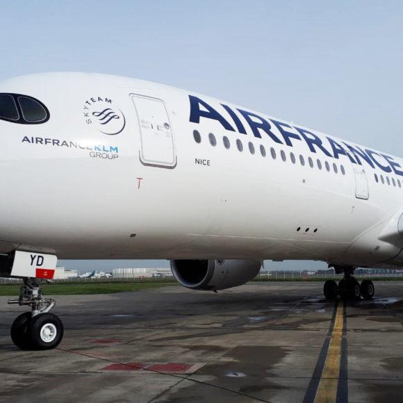 Le nouvel avion A350 d'Air France s'appelle Nice